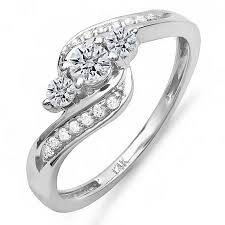 swirl engagement rings 0 50 carat ctw 14k white gold swirl