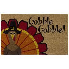 home accents gobble gobble 18 in x 30 in door mat 60115239518x30