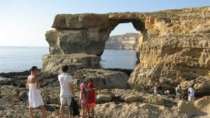 Azure Window The Azure Window In Gozo Is A Natural Massive Arch Located In Gozo