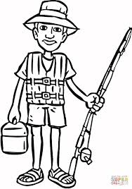going on fishing coloring page free printable coloring pages