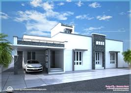 contemporary single floor home in 1350 sq ft kerala home design