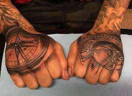 Tattoo Compass Hand | 70 compass tattoo designs for men an exploration of ideas