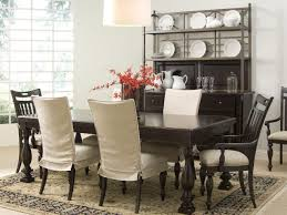 image of elegant slipcover dining chairs