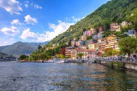 photo italy como lombardy mountains lake cities building