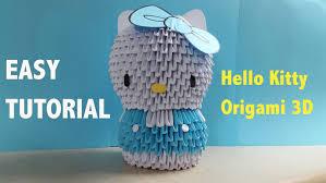 cara membuat origami hello kitty 3d origami 3d hello kitty youtube