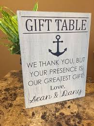 nautical wedding gift ideas best 25 gift table signs ideas on