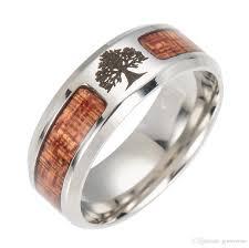 mens stainless steel rings 2017 hot sale mens rings titanium wood steel cross jewelry