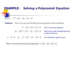 example solving a polynomial equation