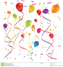 party confetti party balloons and confetti royalty free stock photo image 13040665