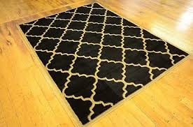 Black And Gold Rug Unique Loom Trellis Black Gold Area Rug What U0027s It Worth