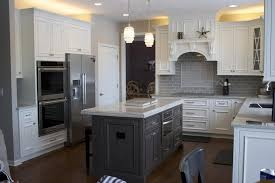 white crackle paint cabinets i want this kitchen white painted cabinets with gray stained island