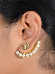 ear cuffs uk buy antique 2 in one stud ear cuff online