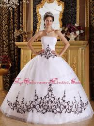 black and white quinceanera dresses white quinceanera dress