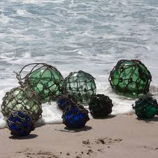 Glass Float String Lights by Authentic Sea Glass Balls Worn By The Sand Sun And Saltwater