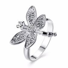 nice big rings images Dragenfly animals charming big rings nice finger wear 925 silver jpg