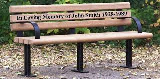 Engraved Benches Recycled Plastic Memorial Park Bench Occ Outdoors