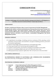 Cctv Experience Resume Profile Of Facilities Engineer