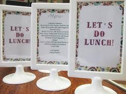 photo bridal shower menu card ideas image