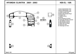 2003 hyundai elantra kit dl auto hyundai elantra 2001 2003 dash kits
