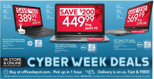 the best office depot and officemax cyber monday laptop desktop