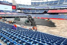 monster truck show houston 2015 prepping track for monster truck rally on patriots home turf a