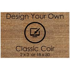 personalized coco coir doormats from the personalized doormats company
