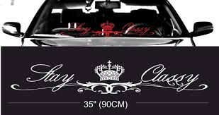 jdm car stickers royal fitment stance windshield windscreen front glass car jdm