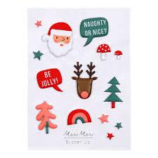 christmas stickers christmas stickers multicoloured meri meri design children