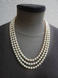 pearl necklace box images Majorica three strand pearl necklace with certificate and jpg