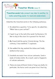 grade 3 grammar topic 23 transitions worksheets lets share