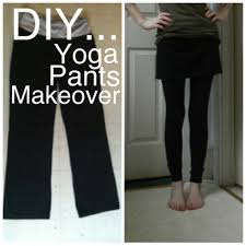 Yoga Pants With Skirt Attached Diy U2026 Yoga Pants Makeover The Velvet Bow