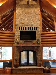 Gas Wood Burning Fireplace Insert by Custom See Through Wood Burning Indoor Outdoor Fireplace Acucraft