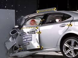white lexus crash luxury cars score low in new crash test cbs news