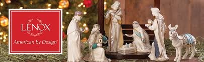 home interior jesus figurines amazon com lenox first blessing nativity lit star home u0026 kitchen