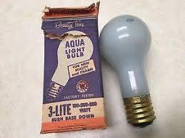 100 200 300 light bulb vintage westinghouse beauty tone aqua blue 3 lite light bulb 100 200