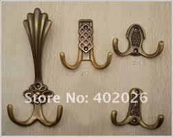 glass door knob coat rack antique copper hook rural clothes creative household coat hook
