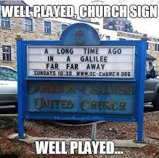Church Sign Meme - church sign playing it well sda seventh day adventist funny
