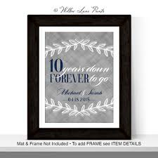 10 year wedding anniversary gift 10 year anniversary gift for husband custom wall