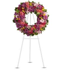 Flowers For Funeral Ringed With Love Funeral Wreath Flowers For Funeral Elegant