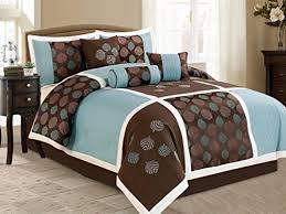 Blue And Brown Bed Sets Aqua Blue And Brown Comforter Sets Duck River Textile Eight