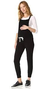maternity jumpsuits monrow maternity drawstring overalls black womens apparel