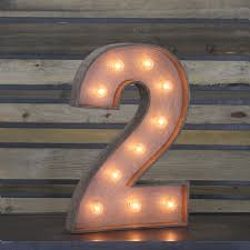 marquee numbers with lights edison marquee number 2 town country event rentals