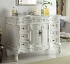 Bathroom Vanities Antique Style Adelina 48 Inch Traditional Style Antique White Bathroom Vanity 23