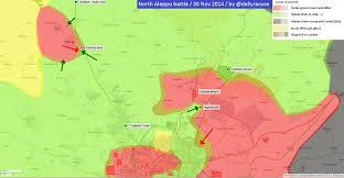Syria Conflict Map by Agathocle De Syracuse North Aleppo Battle 30 Nov 2014