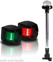 Boat Led Navigation Lights Kit 3 Nav Light Package Port Starboard