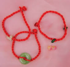 thread bracelet with beads images Red thread bracelet with beads chinese accessories kids jewelry jpg