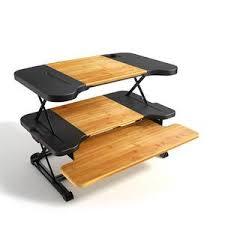 Portable Standing Laptop Desk Height Adjustable Banboo Laptop Desk Portable Standing Table