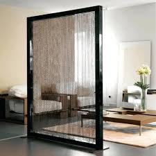 Wall Partition Black Room Divider Screen Dividing Wall Furniture Frosted Glass