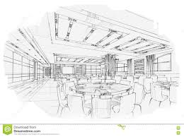 sketch interior perspective living book shelf black and white
