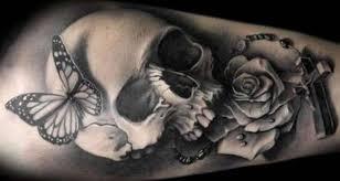 Forearm Skull - skull and butterfly forearm shortlist